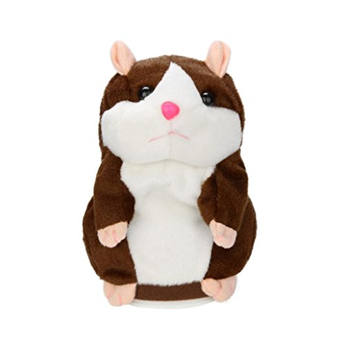 Price comparison product image AMA(TM) Plush Adorable Speak Talking Record Hamster Mouse Child Kids Toys (Coffee)