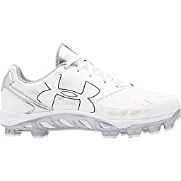 Women\'s Under Armour Spine Glyde TPU Softball Cleat White Size 7 M US