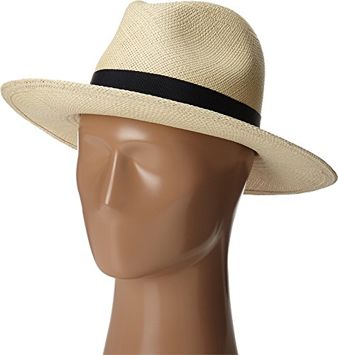Hat Attack Women's Panama Continental Natural/Navy Hat One Size by Hat Attack