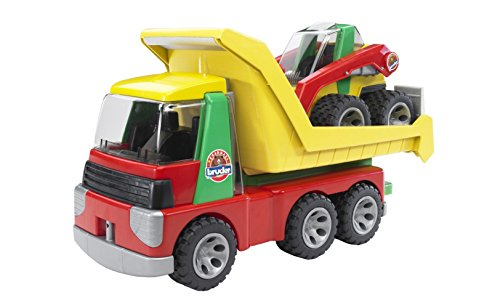 Bruder Toys Transporter With Skid Steer Loader