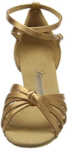 Diamant Damen Latein Tanzschuhe, Chaussures de Danse de Salon Femmes Beige - Beige (Hautfarben)