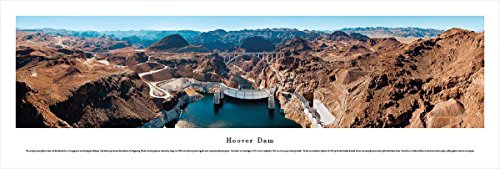 Hoover Dam - Looking Downstream - Blakeway Panoramas Unframed Icon - Sunset Mn In Times