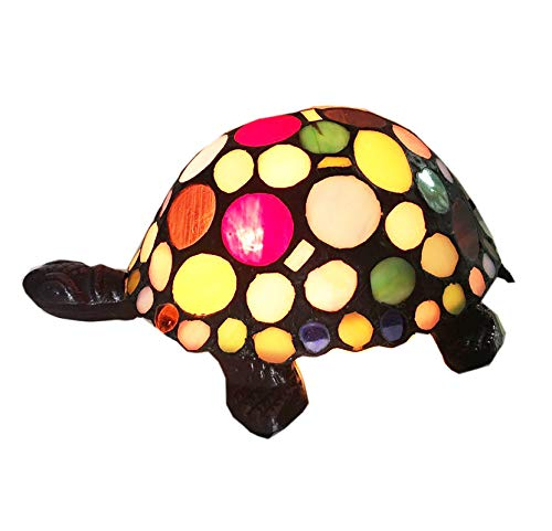 Stained Glass Animals Tortoise HMJ80011 Art Glass Children Room lamp Tiffany Glass Coffee Shop Small Lamps and Lanterns of Lamps and Lanterns (Lamp Turtle Glass Stained)