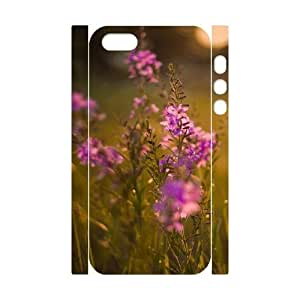 3D Flower 226 IPhone 5,5S Case, Men Cool Case Color Case for Iphone 5s Okaycosama {White}