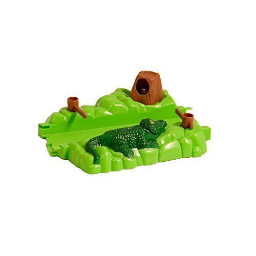 Bend a Path Toy Vehicle Playset Accessory - Green Alligator Gate and Swamp with Batteries