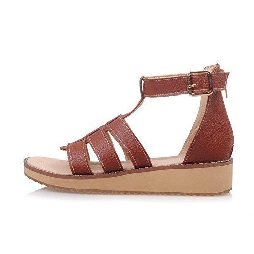 Zapatos rojos de punta abierta formales Laura Vita para mujer kgmPH