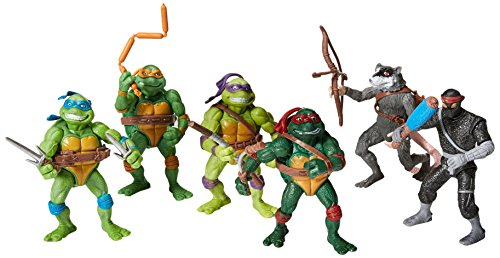 Ninja Turtles Figures (Teenage Mutant Ninja Turtles Action Figures Collectible Figurines (6 Piece), 12cm/4.7