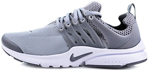 NIKE Air Presto Youth Kids Traing Shoes Cool Grey/ White-wolf Grey