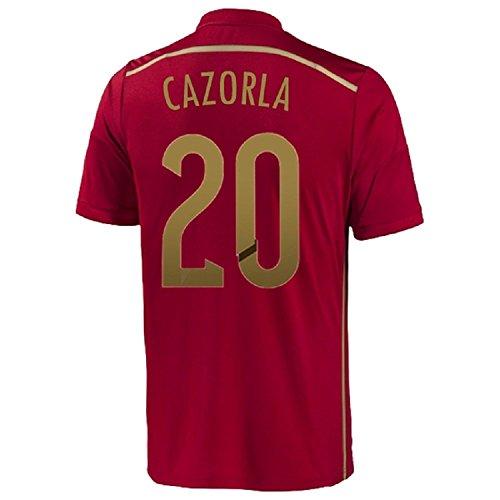 描写追加偶然Adidas Cazorla #20 Spain Home Jersey World Cup 2014/サッカーユニフォーム スペイン ホーム用 ワールドカップ2014 背番号20 カルソラ