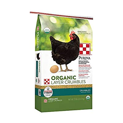 Purina Layena | Nutritionally Complete Organic Layer Hen Feed Crumbles | 25 Pound (25 lb) Bag