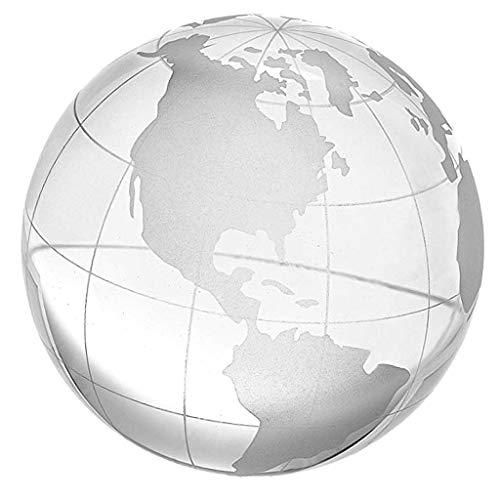 D DOLITY 6 8 10cm Esfera de Mundo Cristalino Transparente 3D Ornamento para  Casa e062e04c5e083