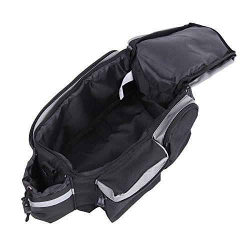 PanelTech Bicycle Cycling Sport Rear Rack Seat Trunk Bag Bike Mountain Handbag Storage Expanding Carry Strap Portable Shoulder Saddle Bag with Water Holder by PanelTech (Image #3)
