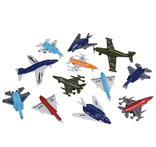 (Rhode Island Novelty Airplane Assortment Set | One Dozen)