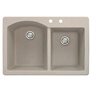 Transolid atdd3322 16 bc aversa granite 2 hole drop in double bowl image unavailable workwithnaturefo