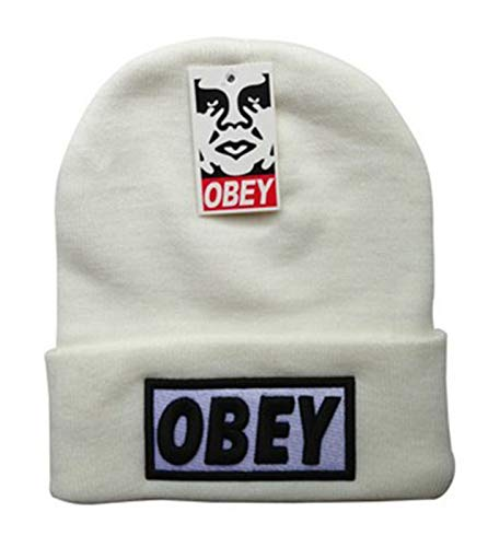 OBEY - Unisex Adult Winter Knit Beanie Hat One Size Fits Most Beige