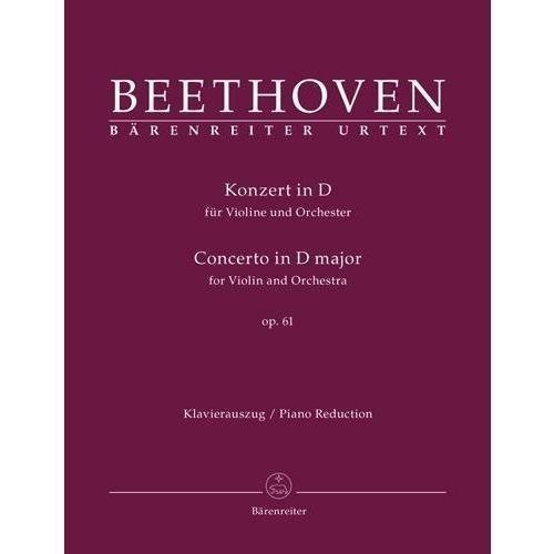 Beethoven - Concerto in D Major Op 61 for Violin and Piano URTEXT Published by Barenreiter