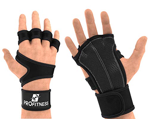 Weight Lifting Workout Gloves with Non-Slip Silicone Grip Padding to Avoid Calluses - for Crossfit, WODs, Weightlifting, Gym Work Out Training - with Wrist Wrap Support for Men & Women