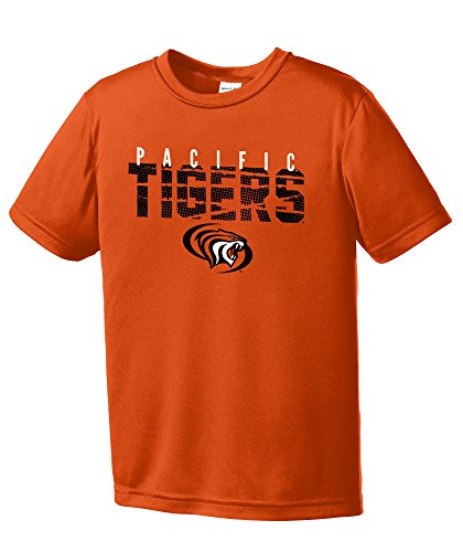 Pacific Basketball Collegiate (NCAA Pacific Boxers Youth Boys Destroyed Short sleeve Polyester Competitor T-Shirt, Youth Small,Orange)