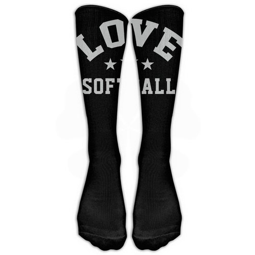 - Love Softball Stockings Long Tube Socks, Great Quality Classics Knee High Socks Sports Socks For Women Men One Size 1 Pair By LERJIMUX