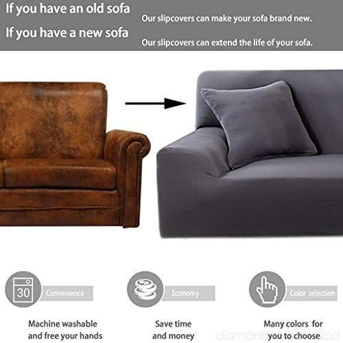 Amazon.com: ANGELLOONG - Funda de sofá con 1 funda de ...