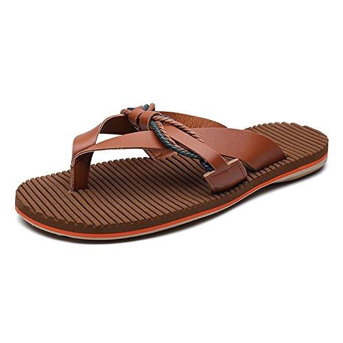 Playa Brown Correa Los Planas Sandalias Ocasionales Suaves Genuino De Antideslizantes La Cuero Hombres Chancletas 2018 Zapatillas Zapatos Sandalias TXAvgUwSgq