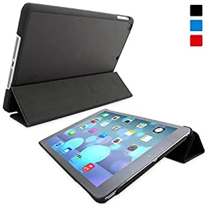 iPad Air Case, Snugg™ - Black Ultra Thin Smart Case Cover and Flip Stand [Lifetime Guarantee] Slim Fit with Auto Wake / Sleep for Apple iPad Air