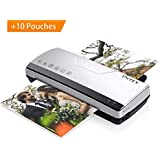 "INTEY Thermal Laminator, A4 Laminating Machine, 9"" Max Width, 4min Warm-Up, Unconditional 1.5 Year Exchange (Bonus: 10 Laminating Pouches) - Senior Gray"