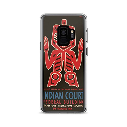 Vintage poster - Indian Court Federal Building 0342 - Samsung Galaxy S9 Phone Case -