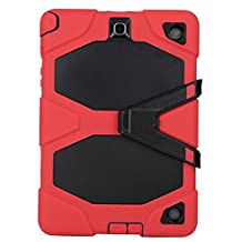 Galaxy Tab A 8.0 [SM-T350],Shockproof dust-proof hard armor Heavy Duty design with Kickstand Protective Case For Samsung galaxy Tab Galaxy Tab A 8.0 [SM-T350] (Red)