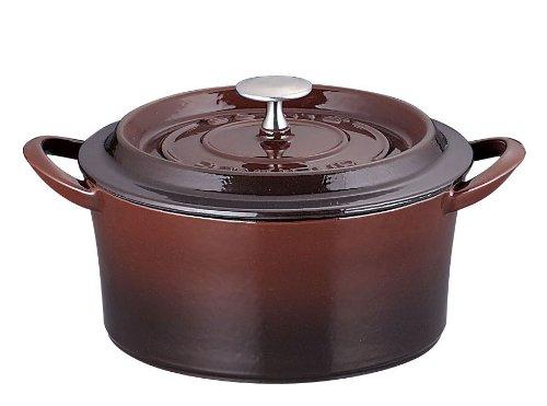 トマト叫ぶ紫のイシガキ産業 ボン?ボネール ココット 18㎝ ブラウン 鉄鋳物 中国 ABVB512