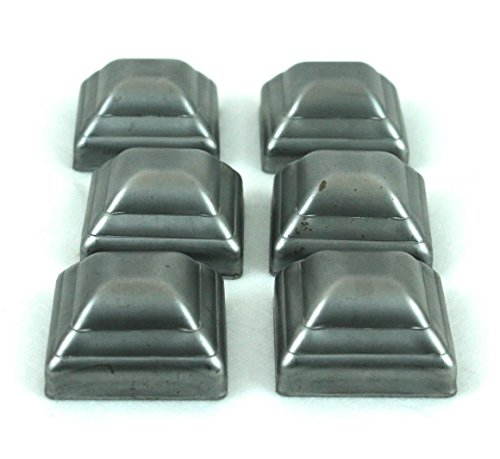 """2"""" Pressed Steel Post Caps For Square Steel Posts (Lot of 6 Caps)"""