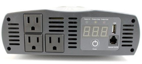 (4) Cobra CPI1575 1500 WATT DC to AC Car Power Inverters w/ 3 Outlets & USB Port