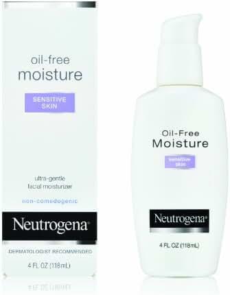 Neutrogena Oil-Free Moisture, Sensitive Skin, 4 Ounce (Pack of 2)