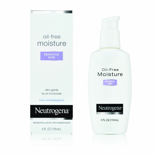 Oil Oil Free (Neutrogena Oil-Free Moisture, Sensitive Skin, 4 Ounce (Pack of 2))
