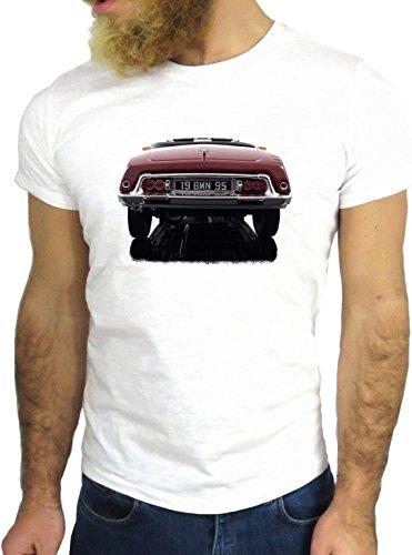 T SHIRT JODE Z2380 VINTAGE CAR SQUALO DS FRANCE PARIS COOL HIPSTER BEL EPOQUE GGG24 BIANCA - WHITE S
