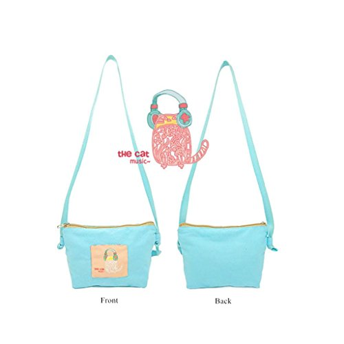 Coin Candy Blue Crossbody Purse Sweet amp; colored Bag Messenger Colors Available Whimsical Purse iSeven Style Bag Zipper Selric T0WqHwvII