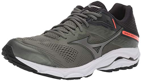 Mizuno Men's Wave Inspire 15 Running Shoe, Beetle-Metallic Shadow, 10.5 D US