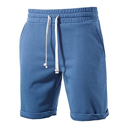 EQKWJ 100% katoen, zachte shorts voor heren, zomer, casual, vrije tijd, korte sportshorts voor mannen