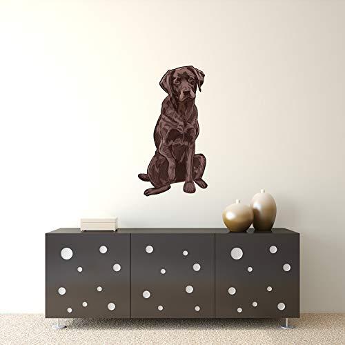 Chocolate Lab Labrador Retriever Dog Removable Wall Decal Sticker Graphic