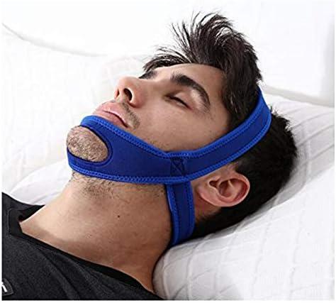 Gesundheit Einstellbar Anti-Schnarch-Kinnriemen Natürlich und sofort Schnarch Relief Einfach und effektiv Snore Remedy Kiefergürtel Stop Schnarchen Lösung(Blau)