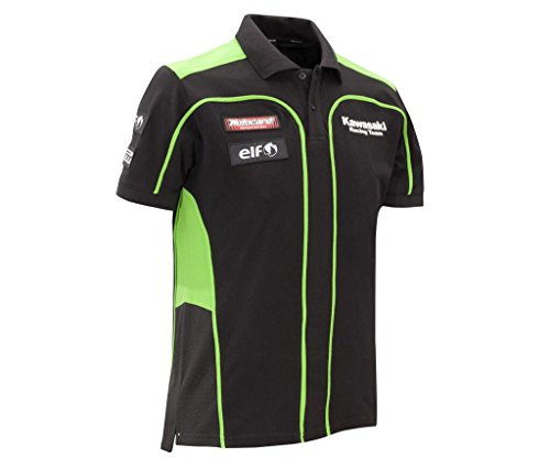 SBK Kawasaki Racing Polo Shirt ! RACING TEAM REPLICA ! Ninja ! schwarz grün ! 3XL/4XL