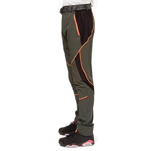 M, Negro Gris LUI SUI Hombre Al Aire Libre Impermeable Respirable Secado R/ápido Pantalones Delgados Ropa Deportiva Escalada Ciclismo Pantalones De Trabajo