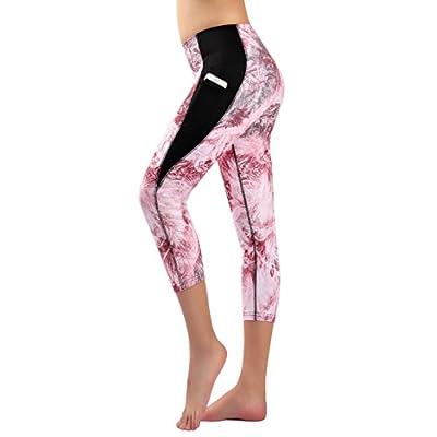 Munvot Legging Femme Pantalon de Sport avec Poches Yoga Fitness Gym Pilates Taille Haute Gaine