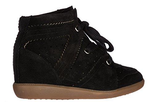 Isabel Marant Scarpe Da Donna Da Donna Suede Scarpe Alte Sneakers Bobby Nere