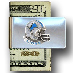 Siskiyou Gifts Detroit Lions Enameled Pewter Money Clip/C...