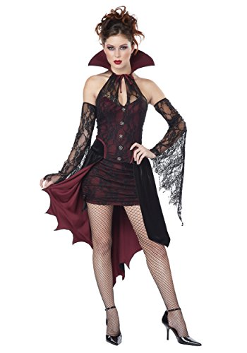 California Costumes Women's Vampire Vixen Costume, Burgundy/Black, X-Small