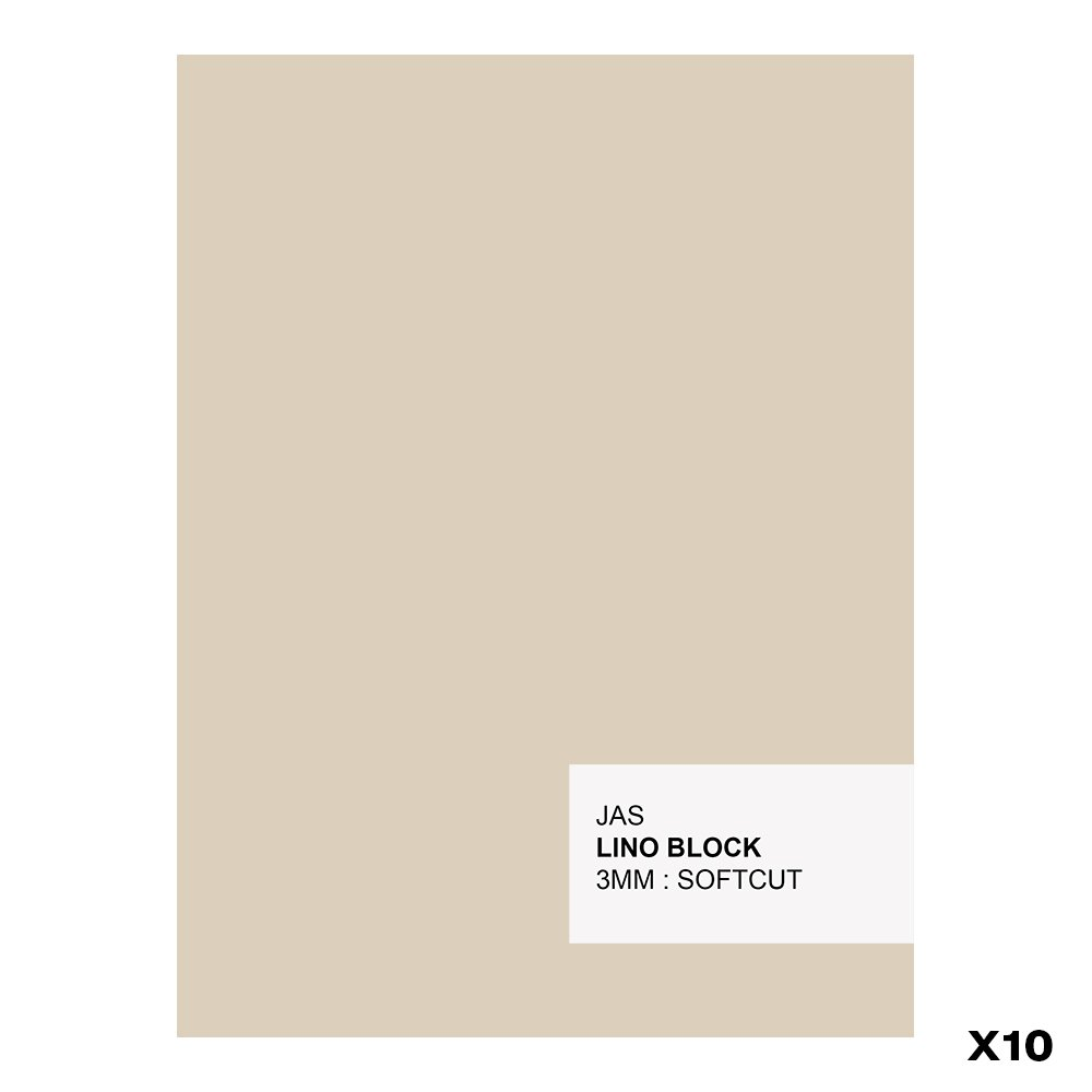 JAS : Lino Block : 3mm : SoftCut : 10 Pack : 150x200mm NA