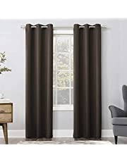 Brown Blackout Curtains Grommets - Thermal Insulated room darkness