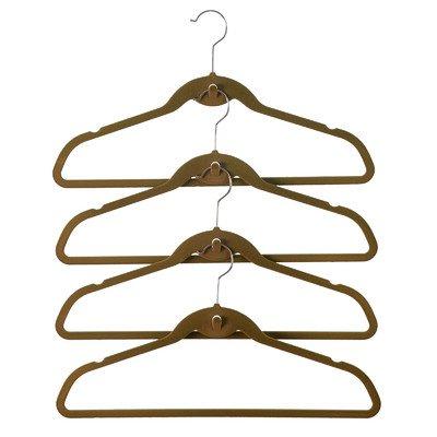 ClutterFREE Hangers Cascade Hanger Set, Caramel, (Velvety Cascade Hanger)
