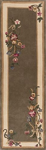 KAS Oriental Rugs Ruby Collection Bouquet Runner, 2'3